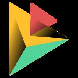 Ilustración pirámide triángulo 3d ápice
