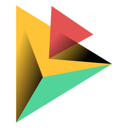 Pyramid triangle 3d apex illustration