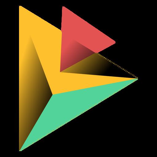 Pirâmide, triangulo, 3d, ápice, ilustração Transparent PNG