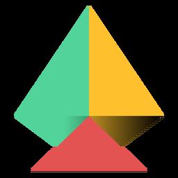 Pirámide triángulo ápice plano