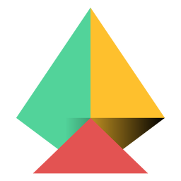 Pyramid triangle apex flat