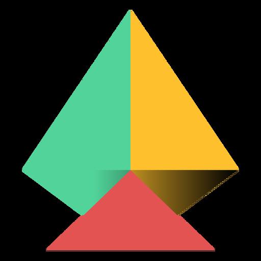 Pirámide triángulo ápice plano Transparent PNG