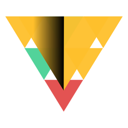 Pirámide triángulo geometría ápice plana