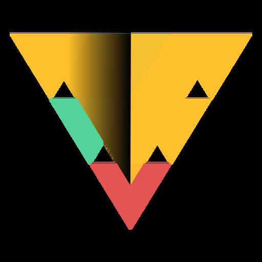 Pirámide triángulo geometría ápice plana Transparent PNG