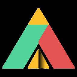 Triângulo de pirâmide paralelepípedo trapézio ápice plana