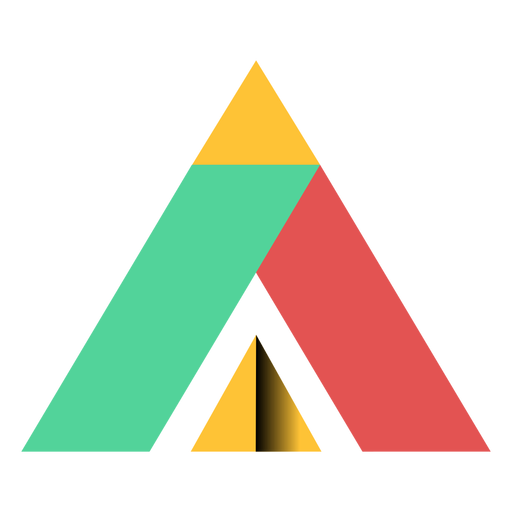 Pyramid triangle parallelogram trapezium apex flat Transparent PNG