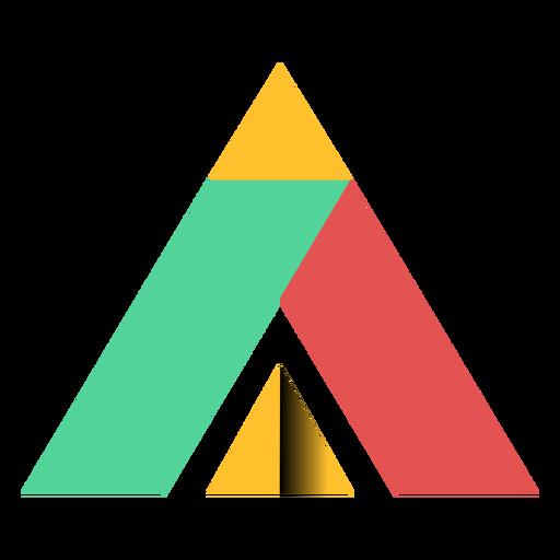 Triângulo de pirâmide paralelepípedo trapézio ápice plana Transparent PNG