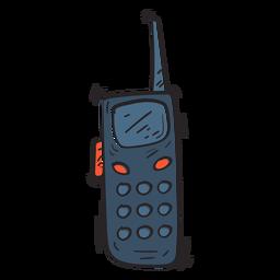 Ilustración de la antena de la estación de radio