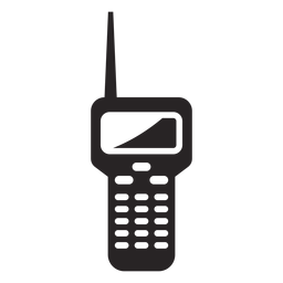 Silhueta de estação de rádio