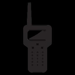 Silueta de la estación de radio