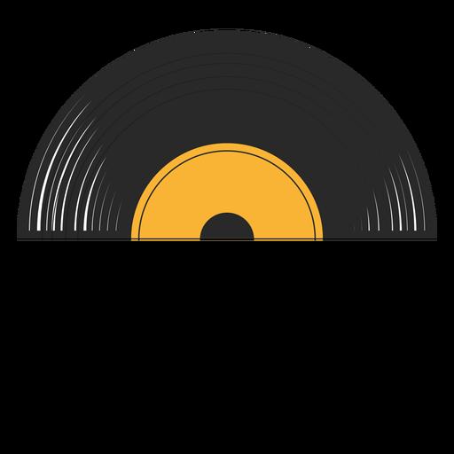 Record half vinyl illustration Transparent PNG