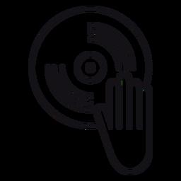 Icono de grabación de vinilo