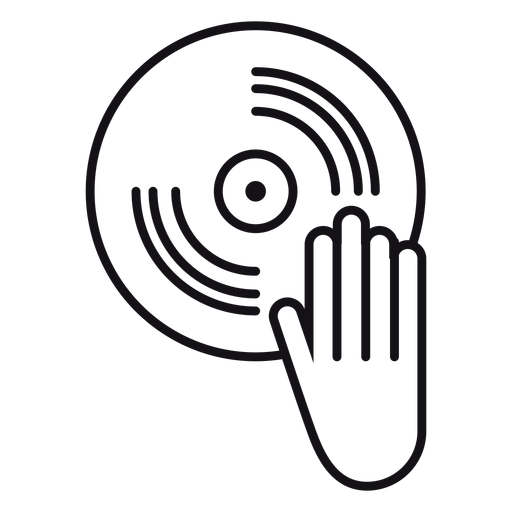 Record icon vinyl Transparent PNG