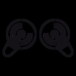 Icono de grabación de disco de vinilo