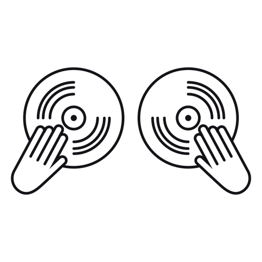 Icono de grabación de disco de vinilo Transparent PNG