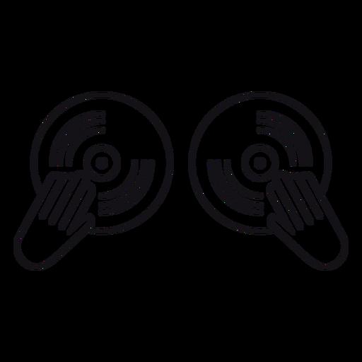 Zeichnen Sie die Vinyl-Scheibe auf Transparent PNG
