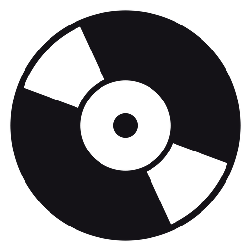 Record music silhouette Transparent PNG