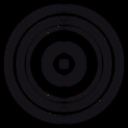 Record silhouette