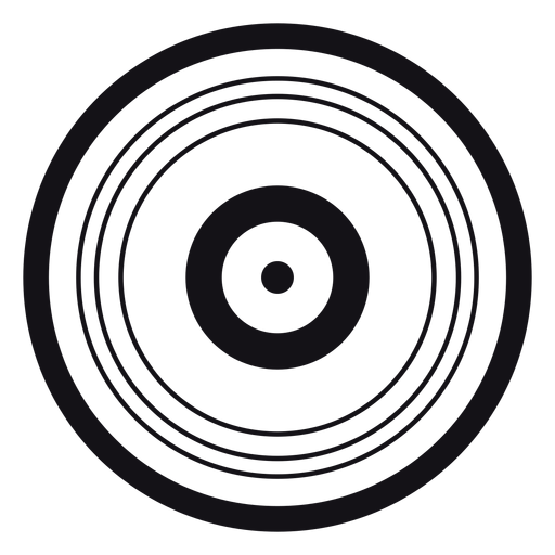Record silhouette Transparent PNG