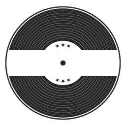 Record star vinyl silhouette