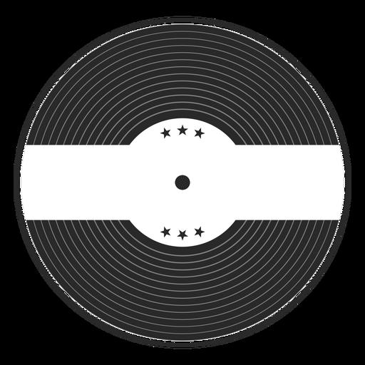 Silueta de vinilo estrella record. Transparent PNG