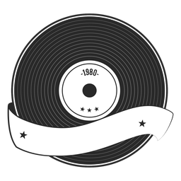 Rekordjahr Vinyl Silhouette