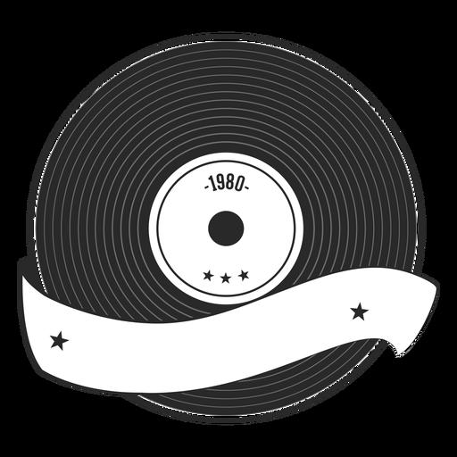 Silueta de vinilo año récord Transparent PNG