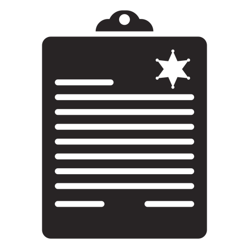 Informe de silueta Transparent PNG