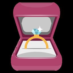 Caja de anillo ilustrada