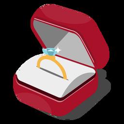 Ilustração caixa de anel
