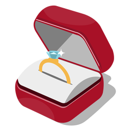Ilustración caja de anillo