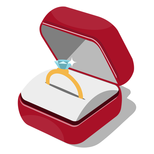 Ilustración caja de anillo Transparent PNG