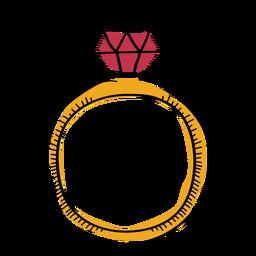 Doodle plana de anel