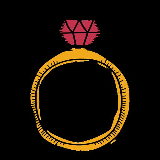 Ring flat doodle Transparent PNG