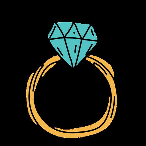 Ring flat doodle design Transparent PNG