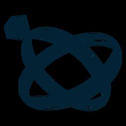 Silhueta de ilustração de anel
