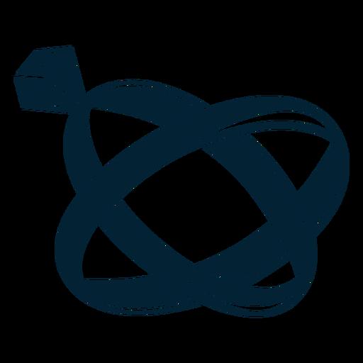Silueta de ilustración de anillo Transparent PNG