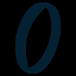 Desenho de silhueta de anel