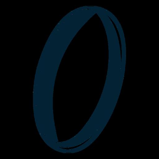 Diseño de la silueta del anillo Transparent PNG