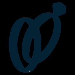 Anel, silueta, ilustração