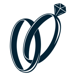 Ilustração da silhueta do anel