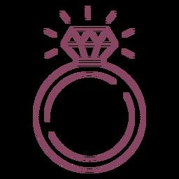Ícone de traço de anel