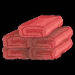 Ilustração de esteira de toalha de rolo