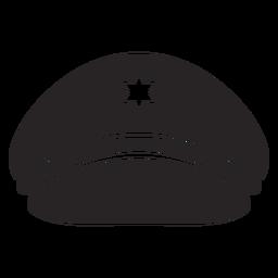 Service cap silhouette