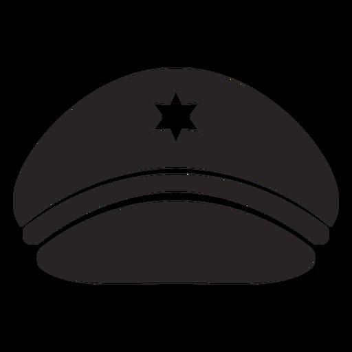 Service cap silhouette Transparent PNG