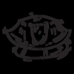 Service cap sketch