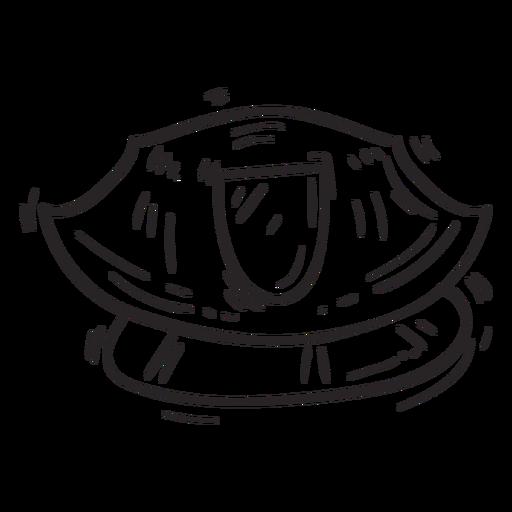 Service cap sketch Transparent PNG