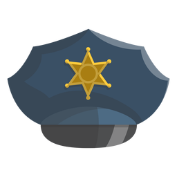Service cap star illustration