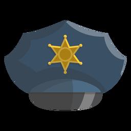 Service cap star illustration