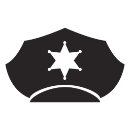 Gorra de servicio estrella silueta
